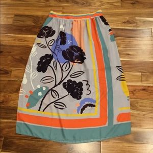 Anthropologie Maeve plein air maxi skirt